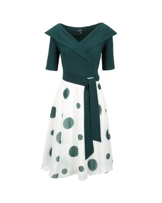 Sukienka wizytowa 1112 ekri...