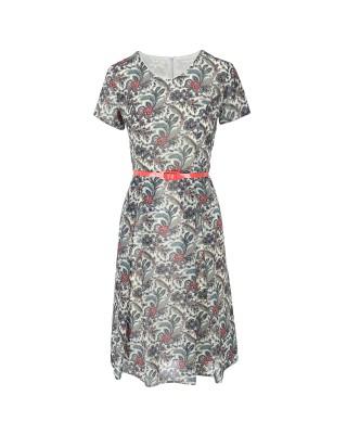 Sukienka szyfonowa 1902 łączka